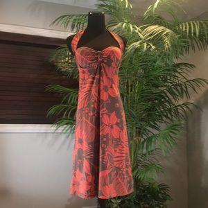 Tommy Bahama Tropical print Halter Dress